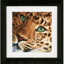 Counted cross stitch kit Leopard