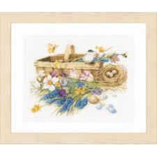 Counted cross stitch kit Spring flowers