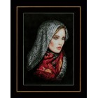 (OP=OP) Counted cross stitch kit Woman in veil