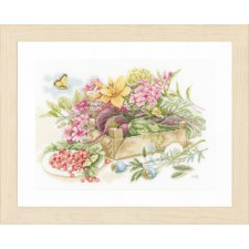Counted cross stitch kit In the garden