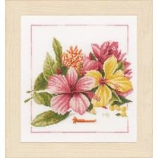 Counted cross stitch kit Amaryllis bouquet