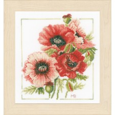 Counted cross stitch kit Anemone bouquet