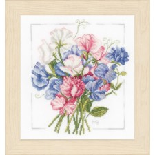 Counted cross stitch kit Colourful bouquet