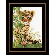 Counted cross stitch kit Little panther