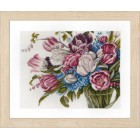 Counted cross stitch kit Pretty flowers