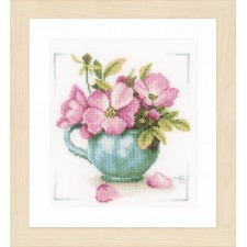 Counted cross stitch kit Wild roses