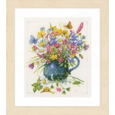 Counted cross stitch kit Flowers in vase
