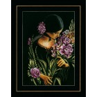 Counted cross stitch kit Woman & flowers