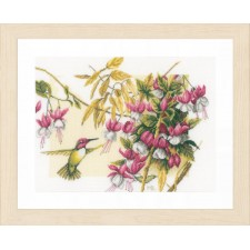 Counted cross stitch kit Colibri & flowers