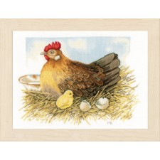 Counted cross stitch kit Mother hen