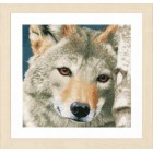 Counted cross stitch kit Wolf