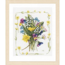Counted cross stitch kit Bouquet of field flowers