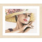 Counted cross stitch kit Lady with hat