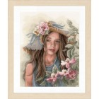 Counted cross stitch kit Little girl with hat