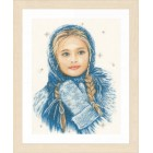 Counted cross stitch kit Winter girl
