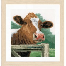 Counted cross stitch kit Wondering cow