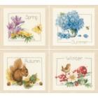 Counted cross stitch kit 4 Seasons set of 4