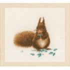 Counted cross stitch kit Squirrel