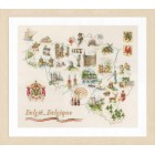 Counted cross stitch kit Map of Belgium