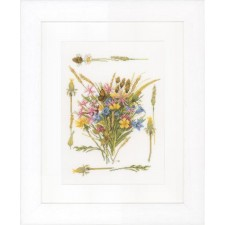(OP=OP) Counted cross stitch kit Field bouquet