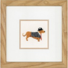 (OP=OP) Counted cross stitch kit Dog in bowler