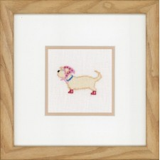 (OP=OP) Counted cross stitch kit Dog with scarf