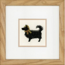 (OP=OP) Counted cross stitch kit Dog with hat