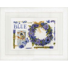Counted cross stitch kit Lavender Wreath