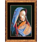 Counted cross stitch kit African lady