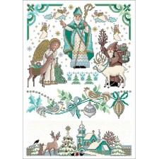 Sinterklaasfeest - St. Nicolaas (blauw/groene versie)