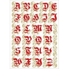 Sacraal alfabet rood
