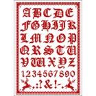 Folklore alfabet rood