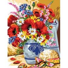 Vaas veldbloemen - Bouquet champêtre