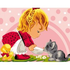 Maaltijd voor de kitten  - Le repas de Minou