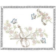 Tafelkleedje viool en vlinders - Violin & Papillons