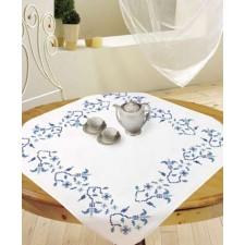Tafelkleedje blauw motief - AZUR CARRE