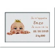 Geboortetegel Enzo - Plaquette de naissance Enzo