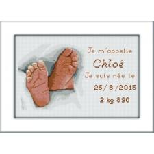 Geboortetegel Chloé - Plaquette de naissance Chloé