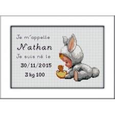 Geboortetegel Nathan - Plaquette de naissance Nathan