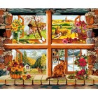 4 Seizoenen foor het raam - 4 saisons à la fenêtre