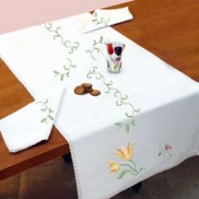 Loper bloemen + servetten