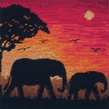 Olifant silhouet (Elephant Silhouette)