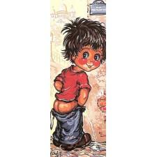 Plassend jongetje Montmatre