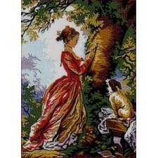 Meisje bij boom