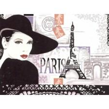 Juffrouw bij de Eiffeltoren