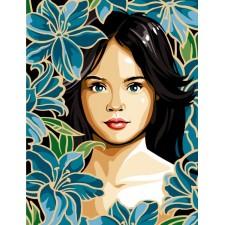 Meisje tussen bloemen - Belle de lys