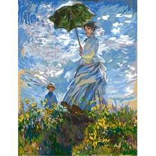 Dame met paraplu (Monet)