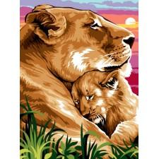 Leeuw en jong - Câliner