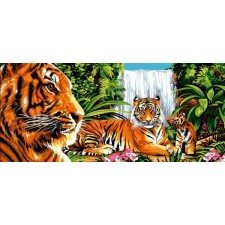 Tijger in de groene jungle - Verte jungle