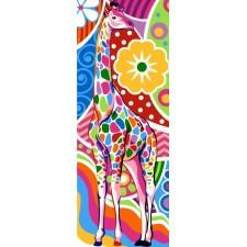 Kleurrijke giraf - Girafe
